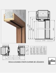 """""""DUCASSE CA50 CLIP"""" Stumdomų durų sistema"""