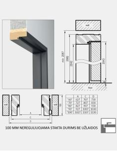 """""""INOX-1"""" Plieninės durys"""