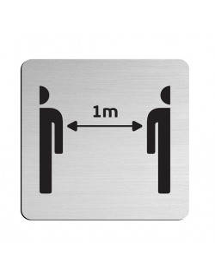 """JNF """"252"""" Informacinės nerūdijančio plieno lentelės 75×75 mm"""
