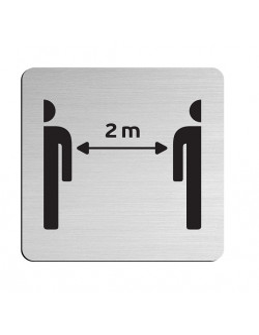 "JNF ""234"" Stainless steel information boards 75×75 mm"