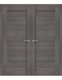 """Dvigubos durys """"PORT"""" Pilkas riešutas"""