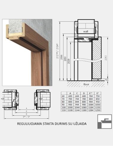 """Dvigubos durys """"PORT 2"""" Balintas ąžuolas"""