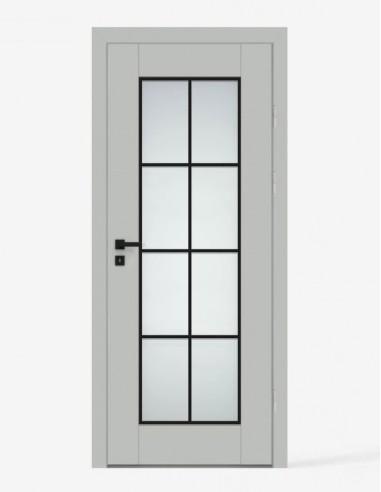 """Dvigubos durys """"PORT 2"""" Pilkas riešutas"""