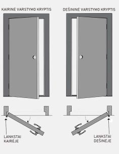 """Dvigubos durys """"PORT 4"""" Venge"""